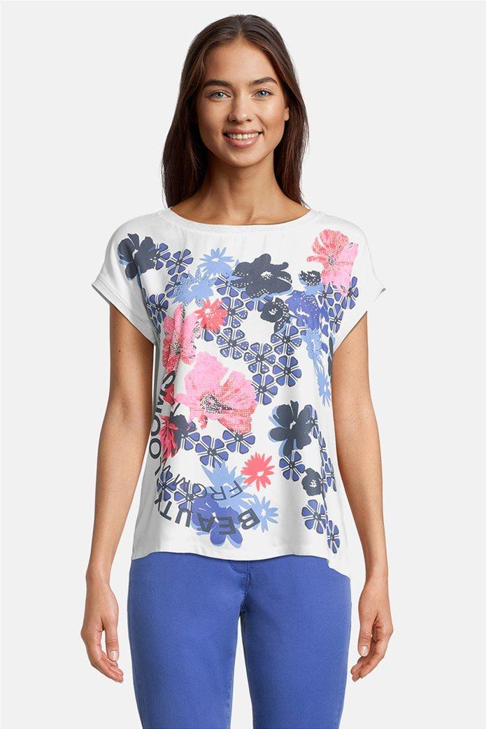 Betty Barclay γυναικεία μπλούζα με floral σχέδιο και τρουκς 0