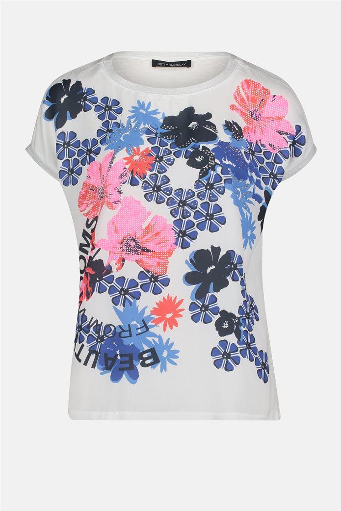Betty Barclay γυναικεία μπλούζα με floral σχέδιο και τρουκς 3
