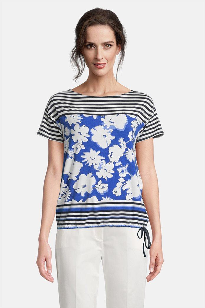Betty Barclay γυναικεία μπλούζα με floral print και ριγέ σχέδιο 0