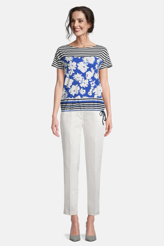 Betty Barclay γυναικεία μπλούζα με floral print και ριγέ σχέδιο 1