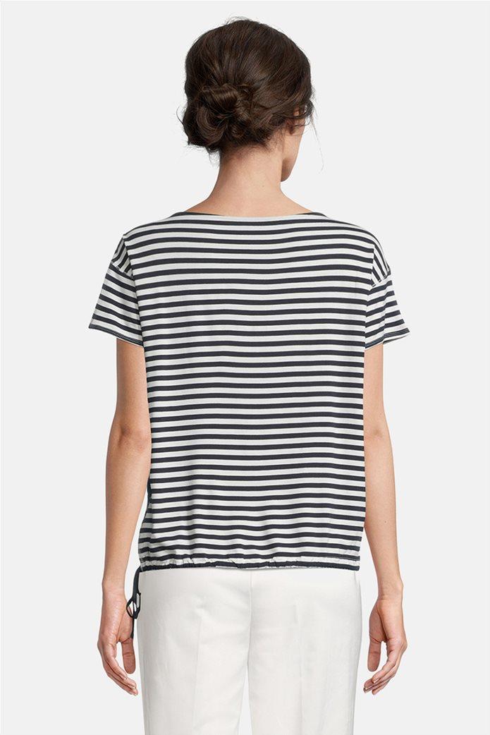 Betty Barclay γυναικεία μπλούζα με floral print και ριγέ σχέδιο 2