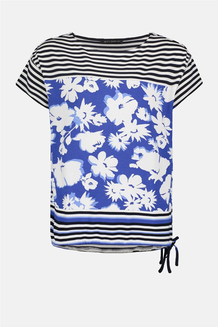 Betty Barclay γυναικεία μπλούζα με floral print και ριγέ σχέδιο 3