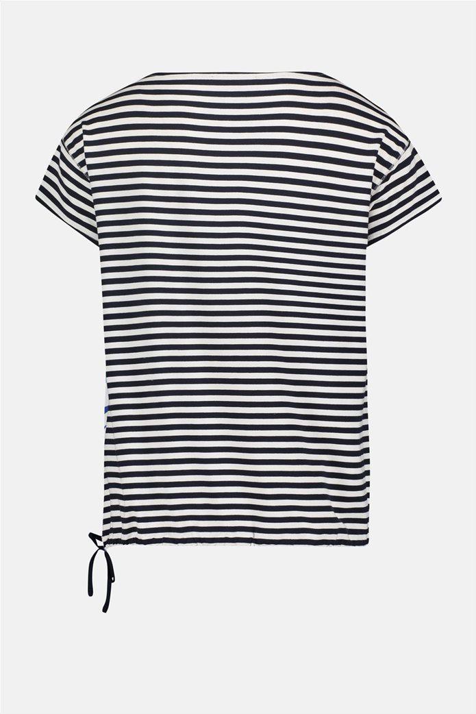 Betty Barclay γυναικεία μπλούζα με floral print και ριγέ σχέδιο 4