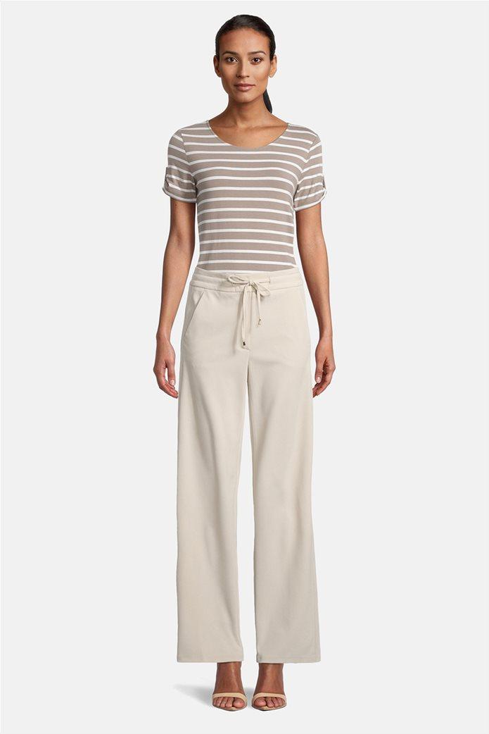 Betty Barclay γυναικείο παντελόνι με ελαστική μέση και κορδόνι 0