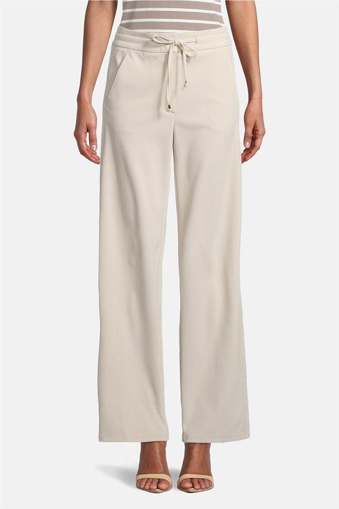 Betty Barclay γυναικείο παντελόνι με ελαστική μέση και κορδόνι 1