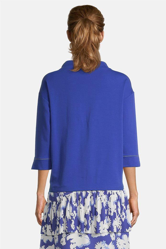 Betty Barclay γυναικεία μπλούζα φούτερ με μανίκι 3/4 και print Μπλε 2