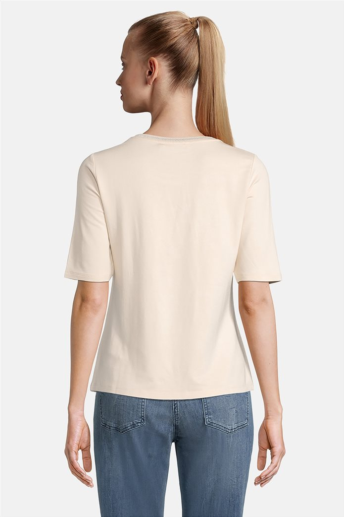 Betty Barclay γυναικεία μπλούζα με μεταλλιζέ στάμπα Κρέμ 1