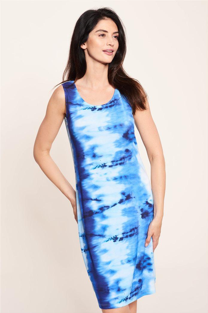 """Rösch γυναικείο αμάνικο φόρεμα παραλίας """"Water Colour"""" Μπλε 1"""