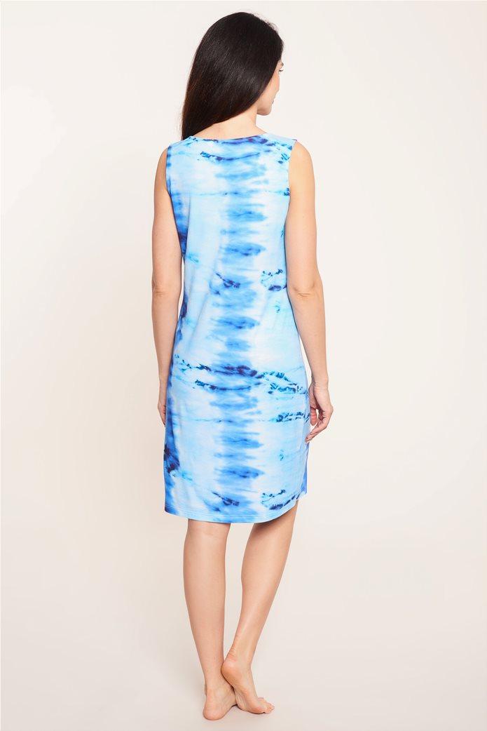 """Rösch γυναικείο αμάνικο φόρεμα παραλίας """"Water Colour"""" Μπλε 2"""