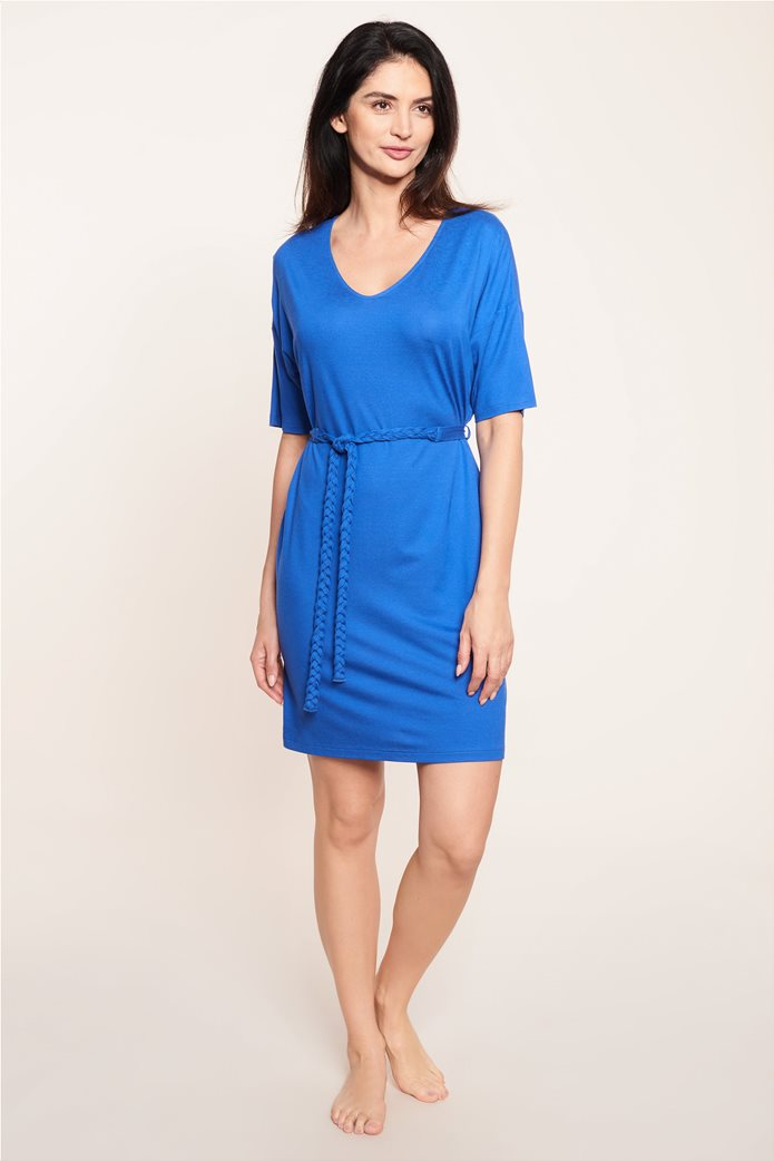 "Rösch γυναικείο φόρεμα παραλίας με ζώνη ""Blue Impulsive"" 0"