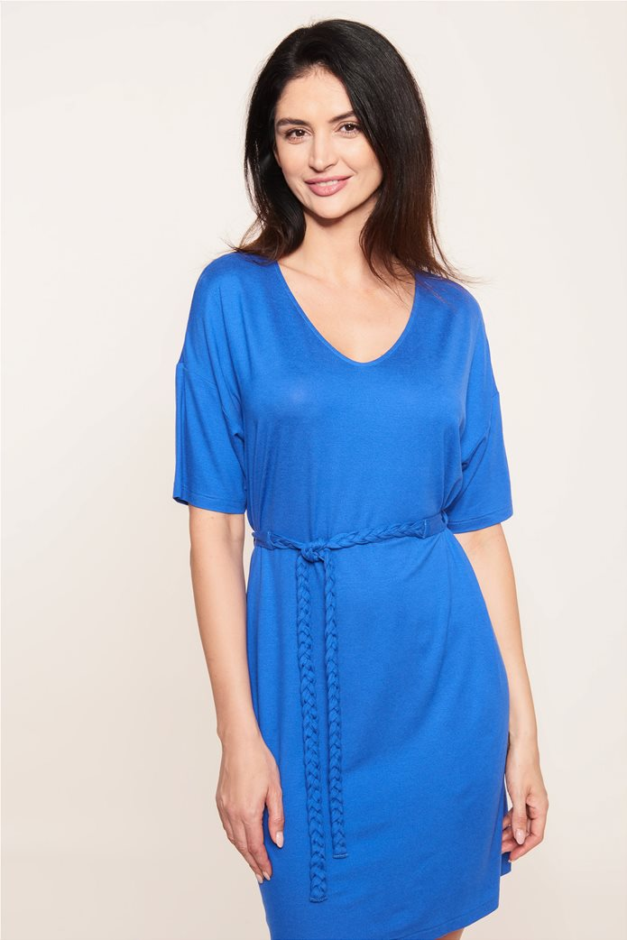 "Rösch γυναικείο φόρεμα παραλίας με ζώνη ""Blue Impulsive"" 1"