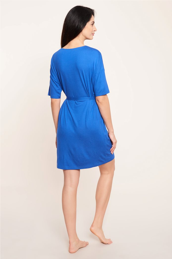 "Rösch γυναικείο φόρεμα παραλίας με ζώνη ""Blue Impulsive"" 2"
