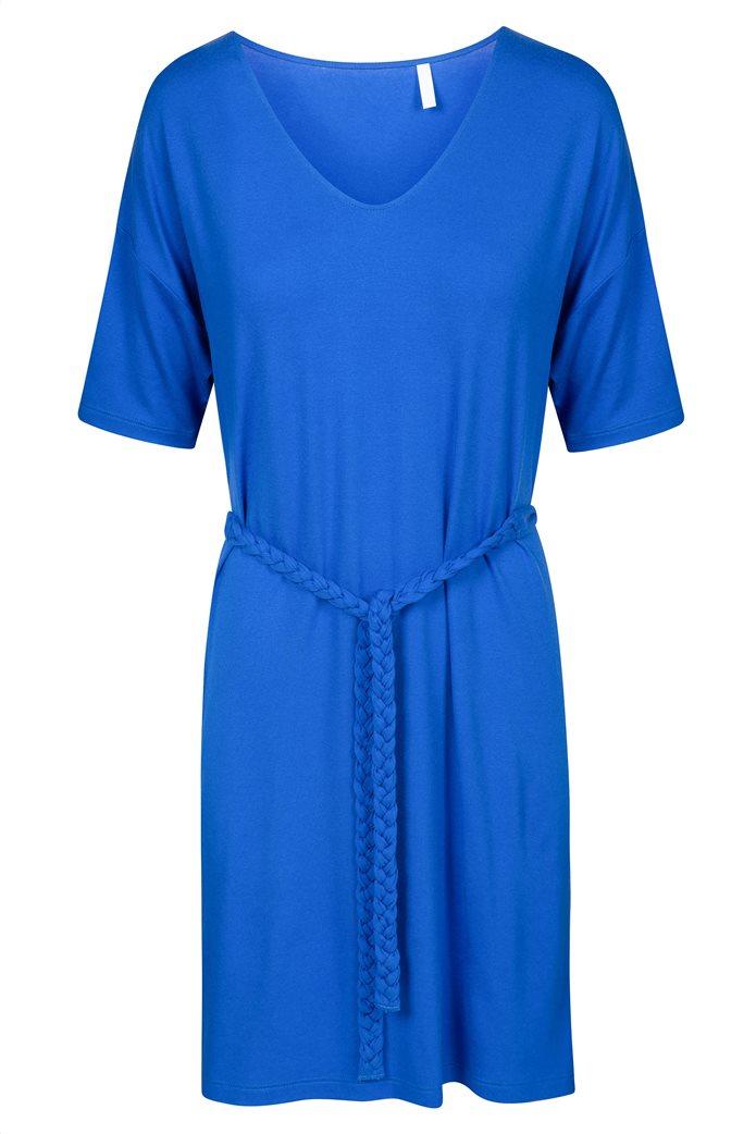 "Rösch γυναικείο φόρεμα παραλίας με ζώνη ""Blue Impulsive"" 3"