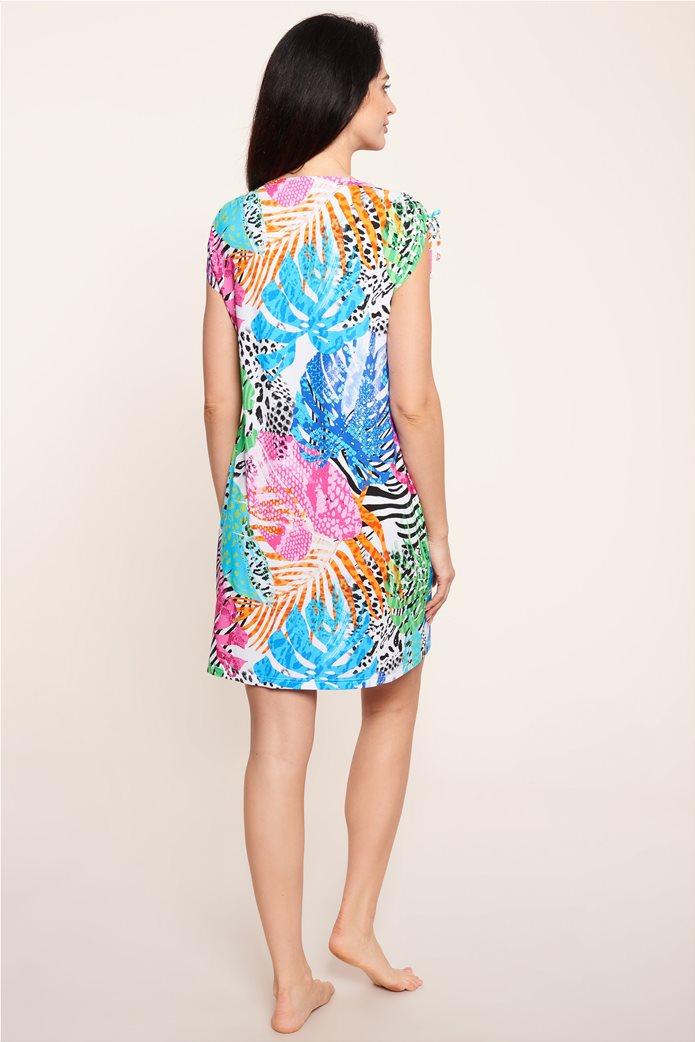 "Rösch γυναικείο φόρεμα παραλίας ""Colourful Splash"" Πολύχρωμο 2"