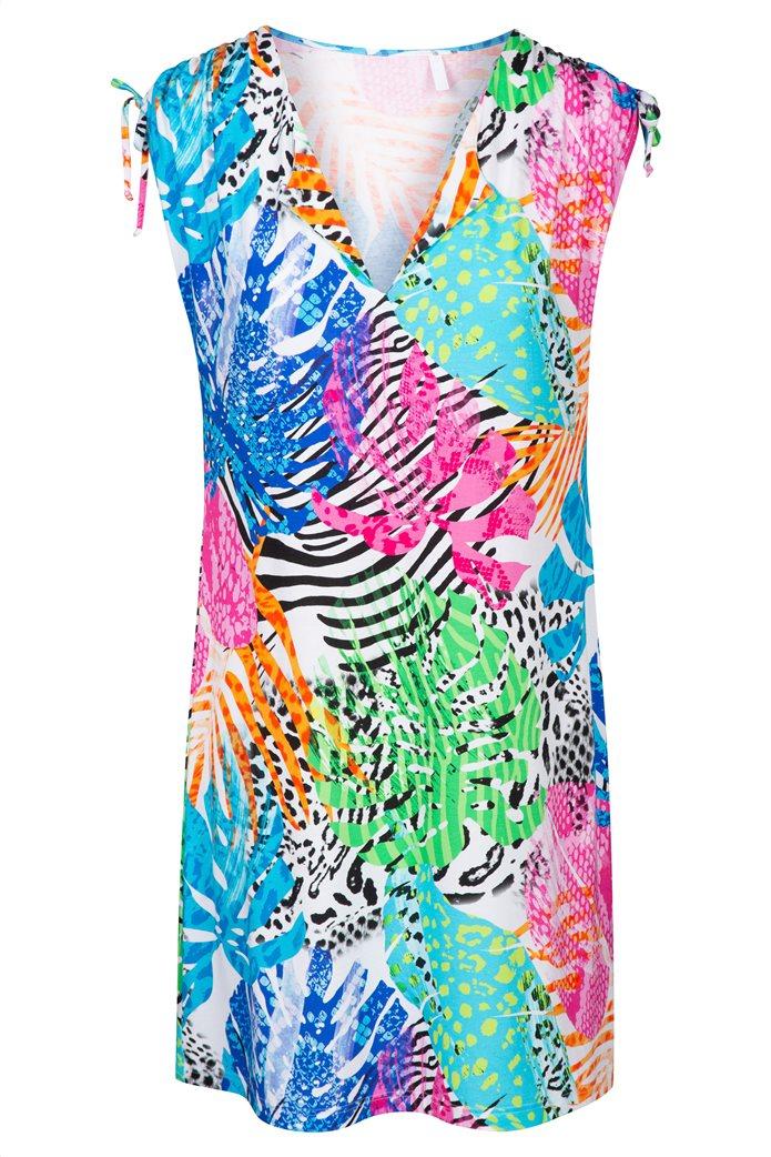 "Rösch γυναικείο φόρεμα παραλίας ""Colourful Splash"" Πολύχρωμο 3"