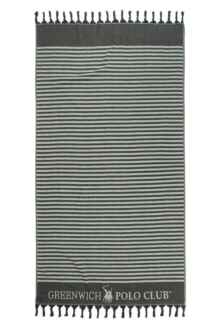 """Greenwich Polo Club πετσέτα θαλάσσης - παρεό """"Essential"""" με ριγέ σχέδιο 90 x 170 cm Μπεζ 0"""