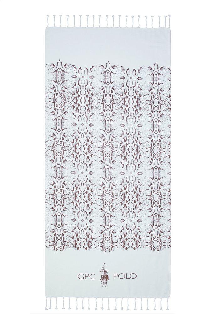 """Greenwich Polo Club πετσέτα θαλάσσης - παρεό με γεωμετρικά print """"Essential 3539"""" 80 x 180 cm Nude 0"""