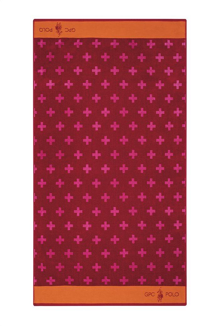 """Greenwich Polo Club πετσέτα θαλάσσης με γεωμετρικά print """"3549"""" 90 x 170 cm Κόκκινο 0"""