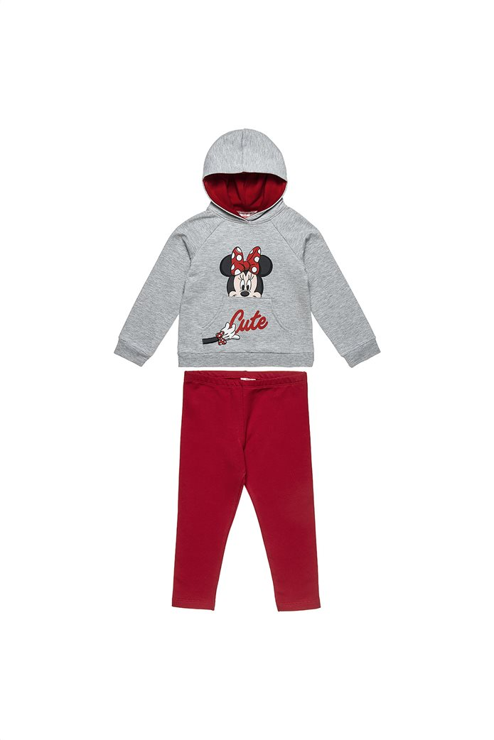 """Alouette παιδικό σετ ρούχων μπλούζα με κουκούλα και κολάν """"Minnie Mouse"""" (2-8 ετών) 0"""