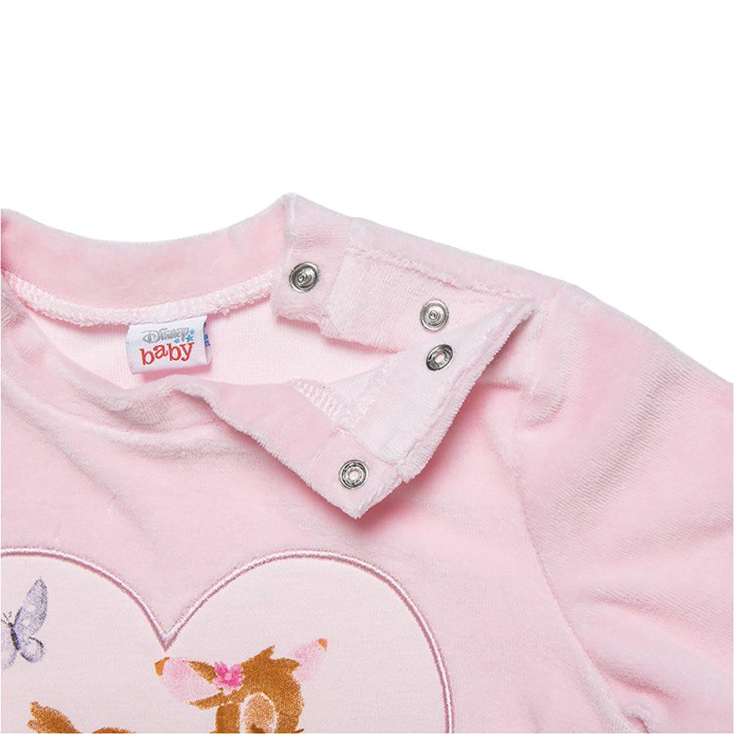 Alouette βρεφικό σετ ρούχων μπλούζα με Bambi print και παντελόνι ριγέ (3-18 μηνών) Ροζ 2