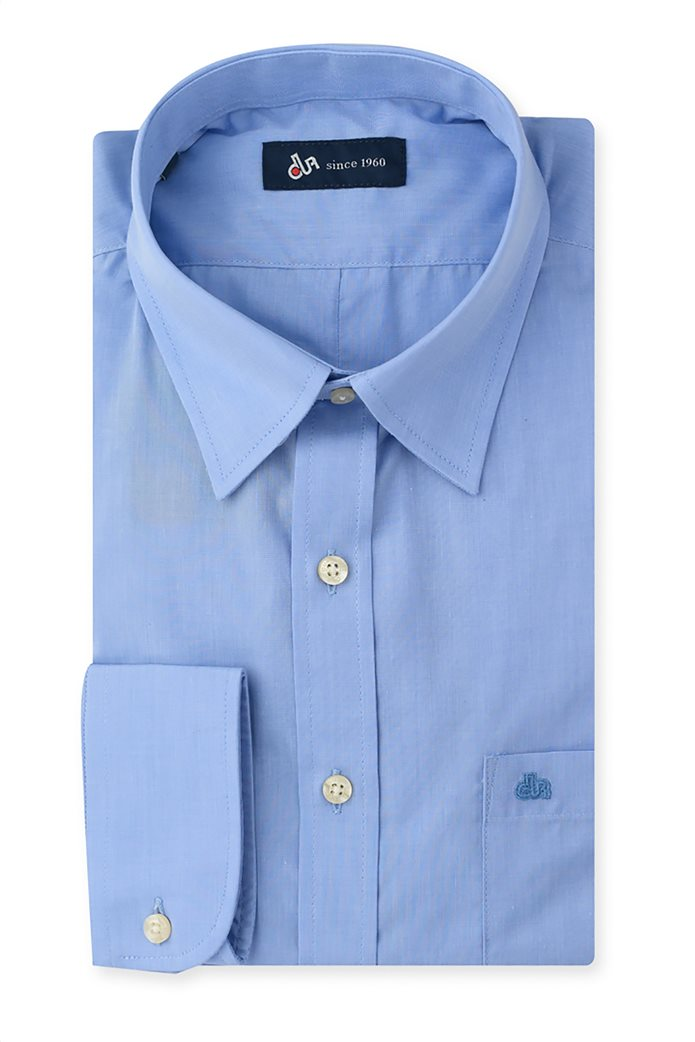 Dur ανδρικό πουκάμισο ύφανσης 'fil a fil' Γαλάζιο 0