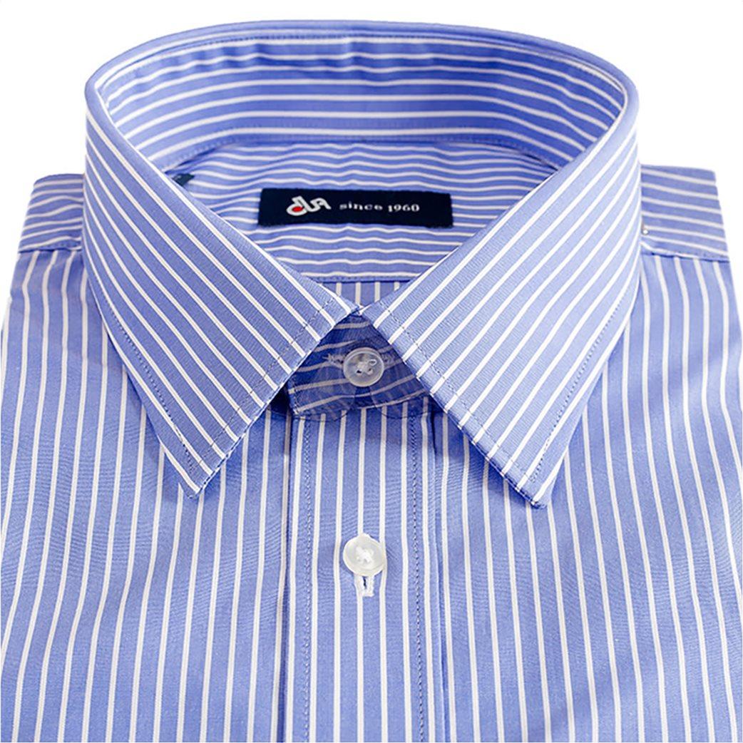 5f8b1ec96ce8 Dur ανδρικό ριγέ πουκάμισο σε κανονική γραμμή με μυτερό γιακά 1