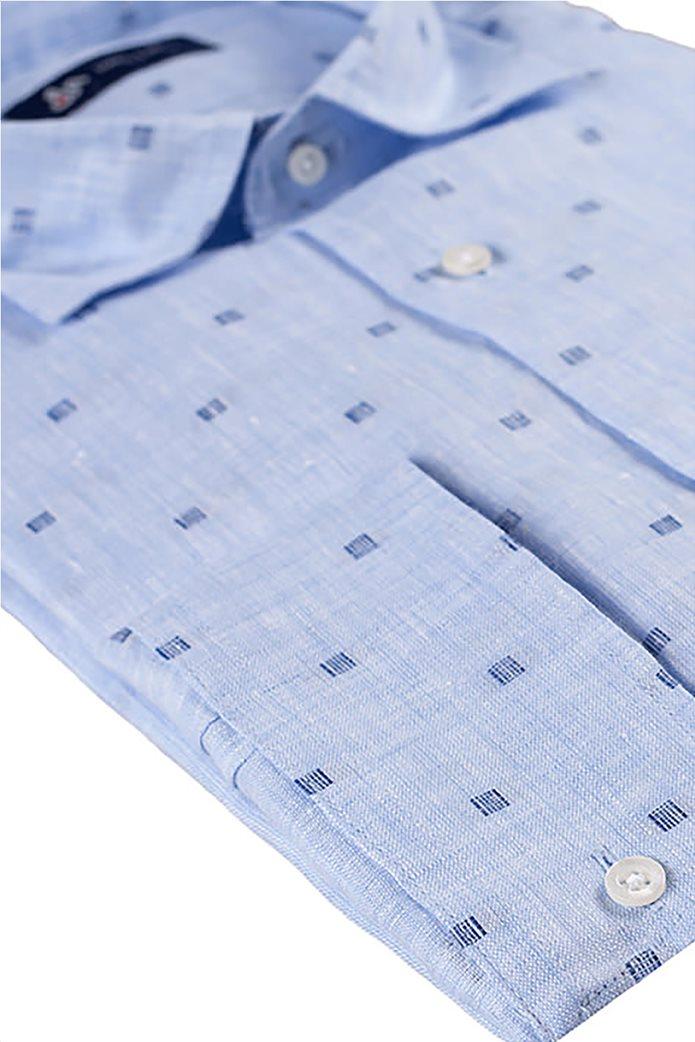 d0baa9e5d482 Dur Ανδρικό πουκάμισο λινό fil coupe 1
