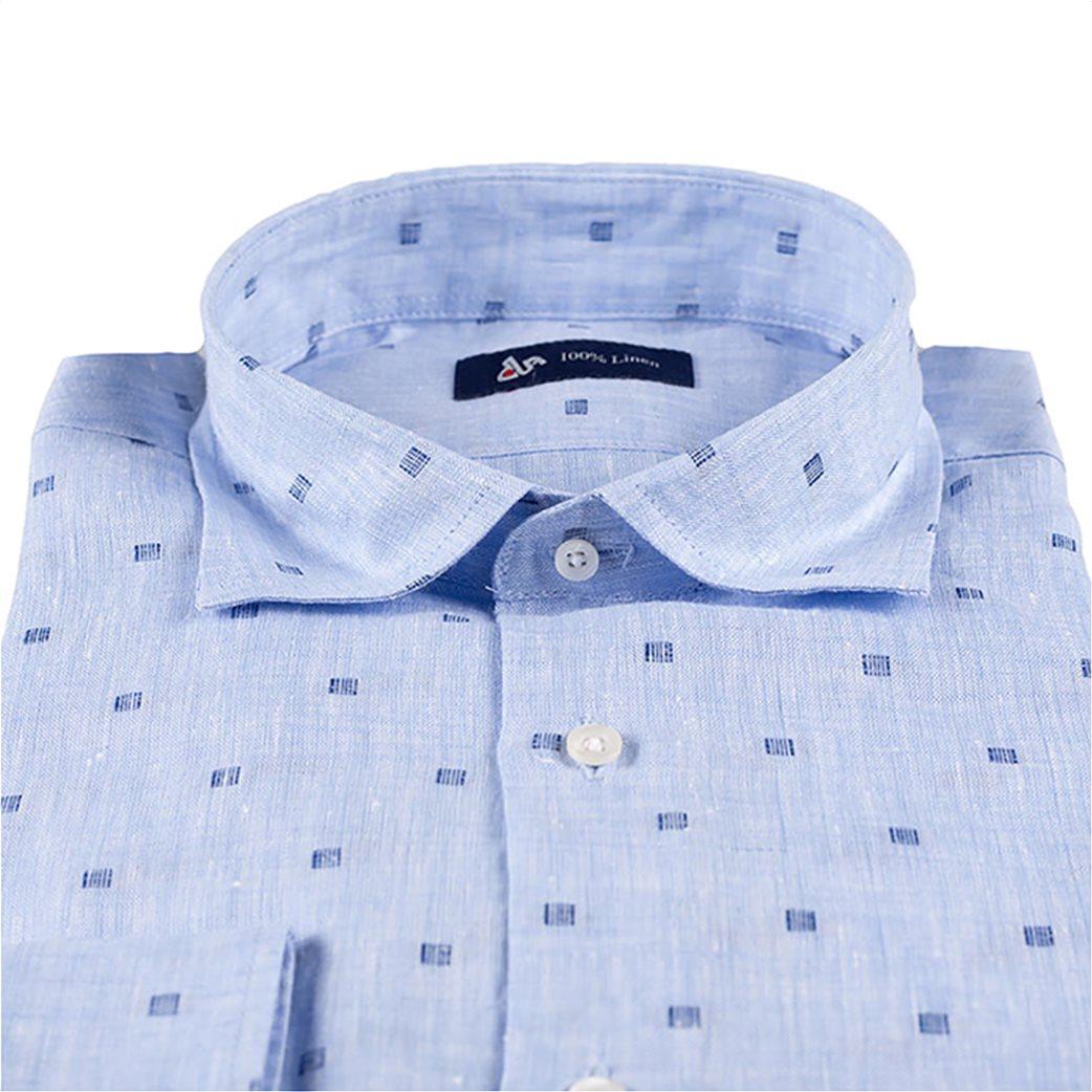 fb09560fb383 Dur Ανδρικό πουκάμισο λινό fil coupe 2