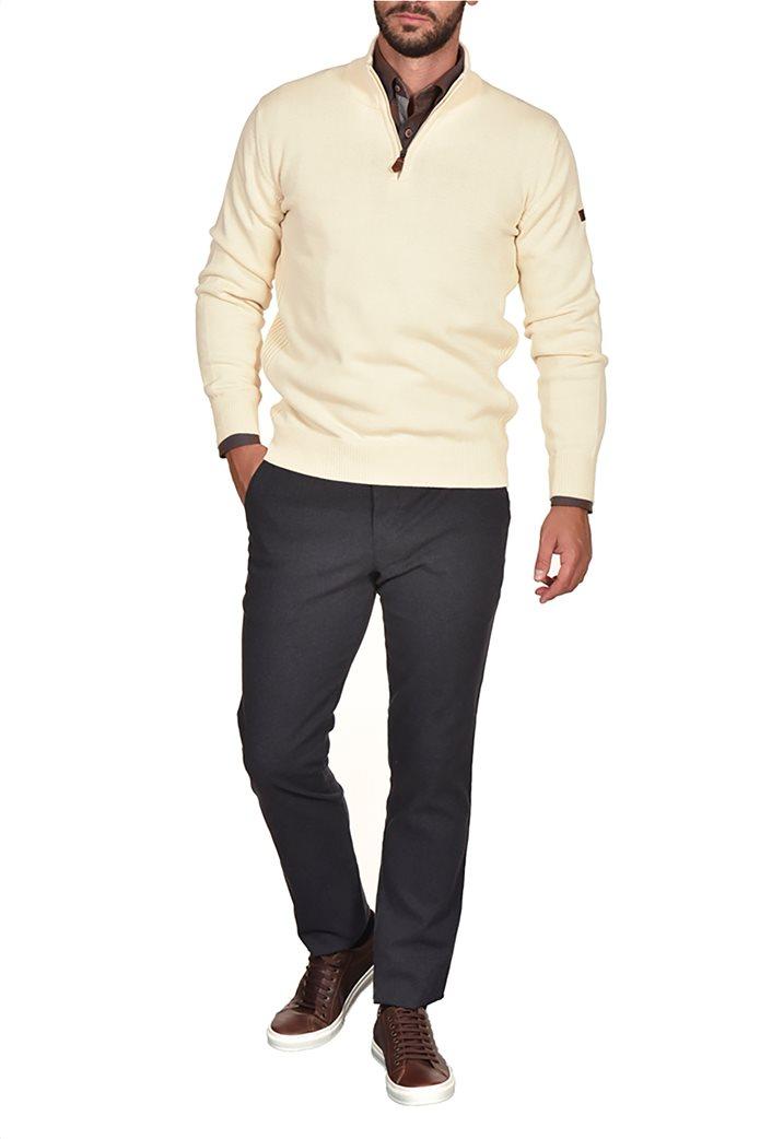 Dur ανδρική πλεκτή μπλούζα με φερμουάρ 0