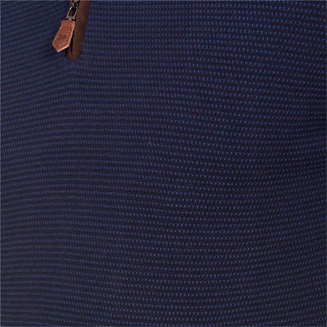 Dur ανδρική πικέ μπλούζα με φερμουάρ και patches στους αγκώνες 3