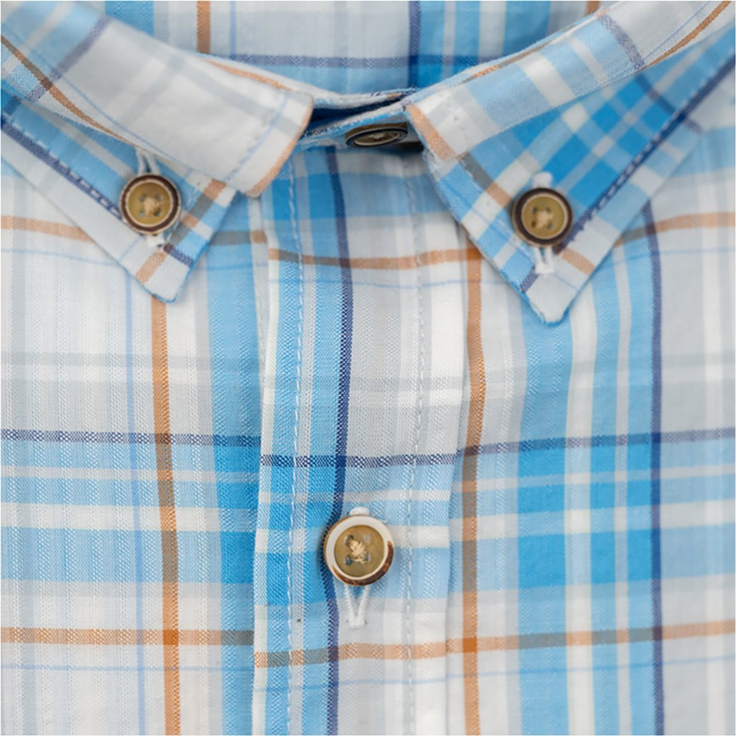 Dur ανδρικό πουκάμισο καρό με κεντημένο λογότυπο 1