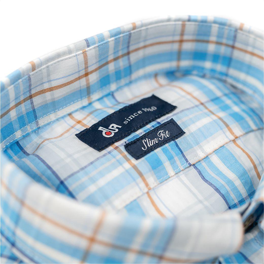 Dur ανδρικό πουκάμισο καρό με κεντημένο λογότυπο 2
