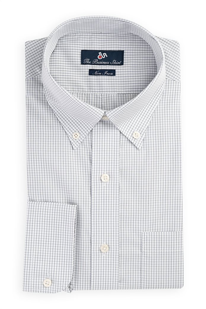 Dur ανδρικό καρό πουκάμισο με τσέπη στο στήθος Γκρι 0