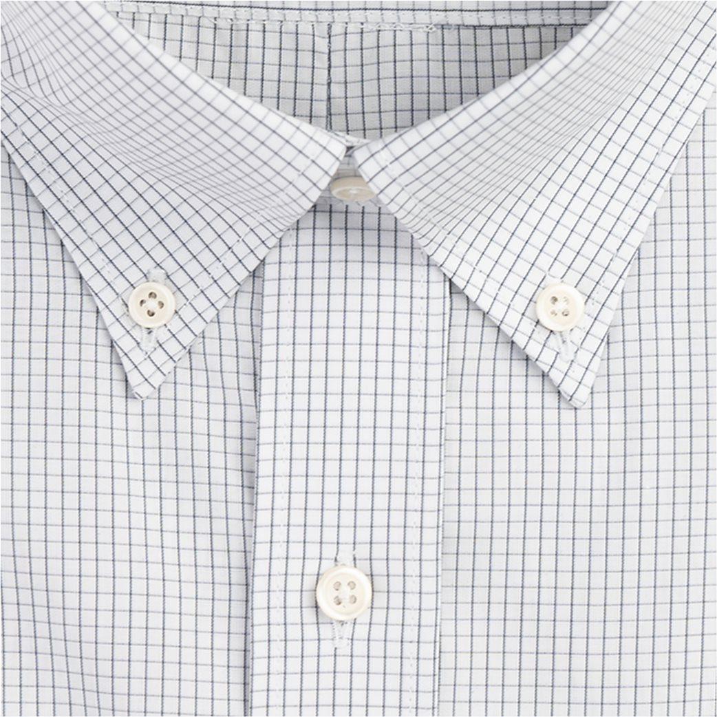 Dur ανδρικό καρό πουκάμισο με τσέπη στο στήθος Γκρι 1