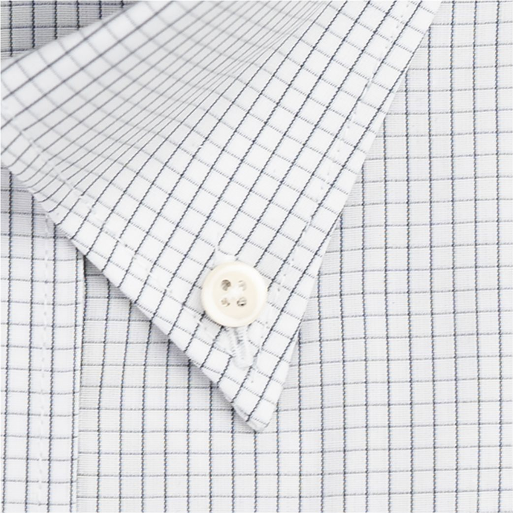Dur ανδρικό καρό πουκάμισο με τσέπη στο στήθος Γκρι 2