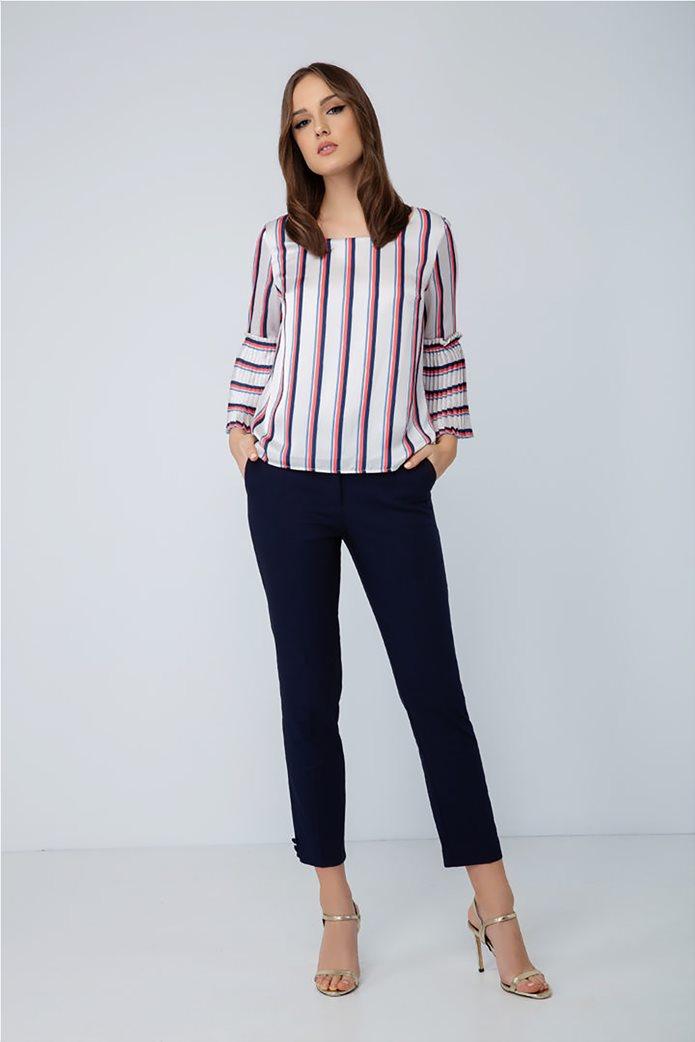 Billy Sabbado γυναικεία ριγέ μπλούζα με πλισέ μανίκι 2