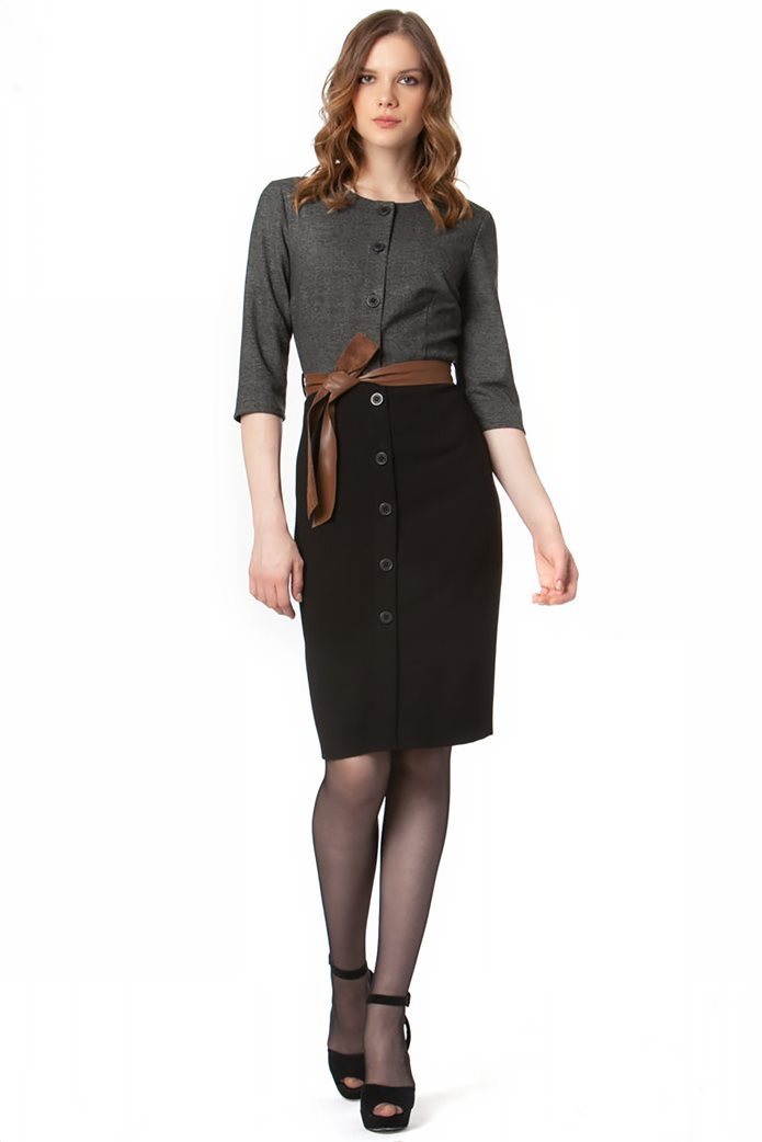 Billy Sabbado γυναικείο mini φόρεμα σεμιζιέ με ζώνη 0