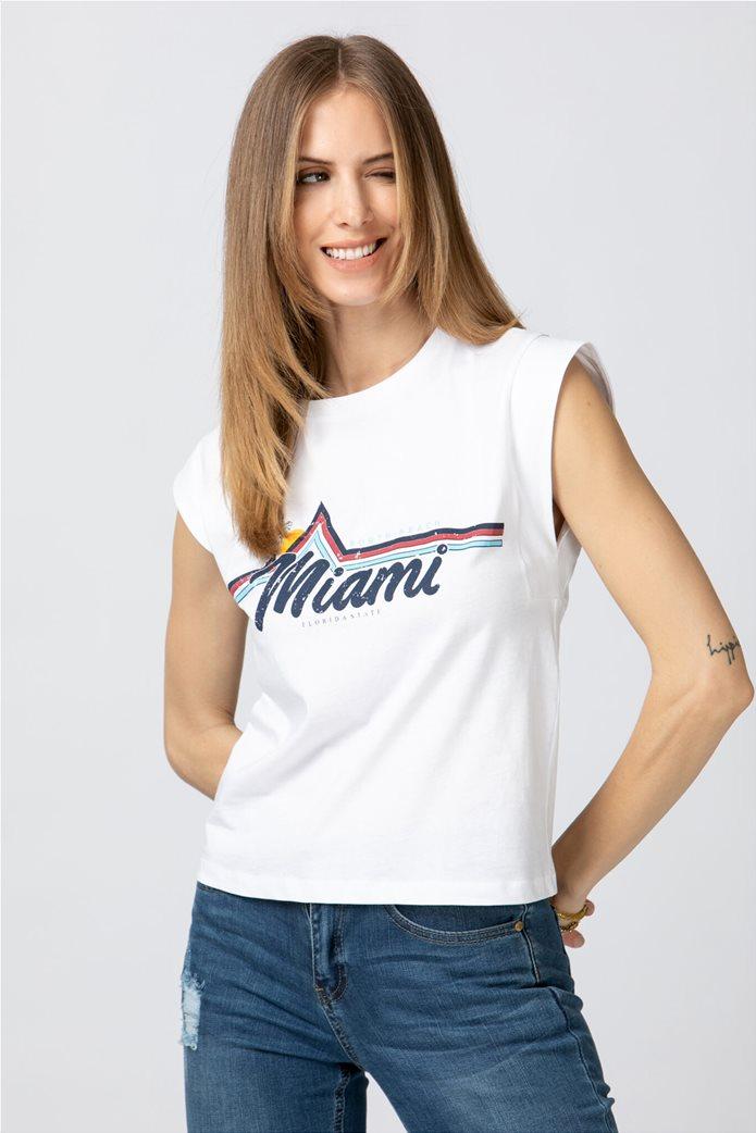 Billy Sabbado γυναικεία μπλούζα με graphic print Λευκό 0