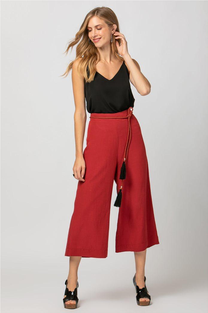 Billy Sabbado γυναικεία παντελόνα cropped Κόκκινο 0