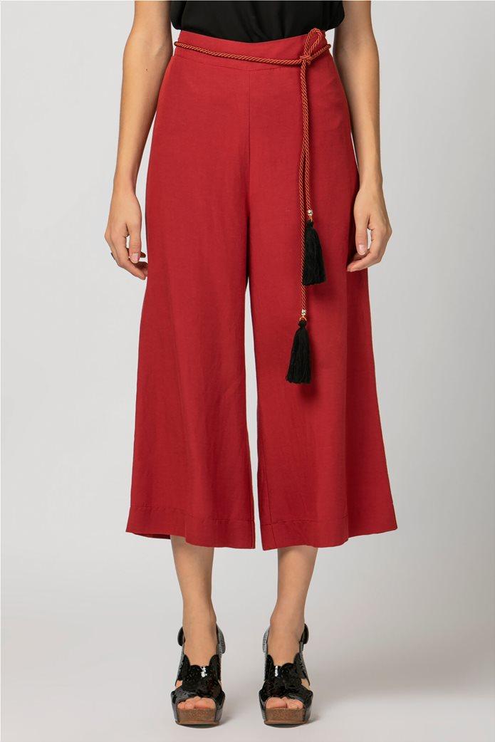 Billy Sabbado γυναικεία παντελόνα cropped Κόκκινο 1