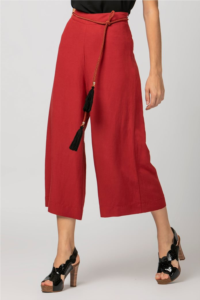 Billy Sabbado γυναικεία παντελόνα cropped Κόκκινο 2