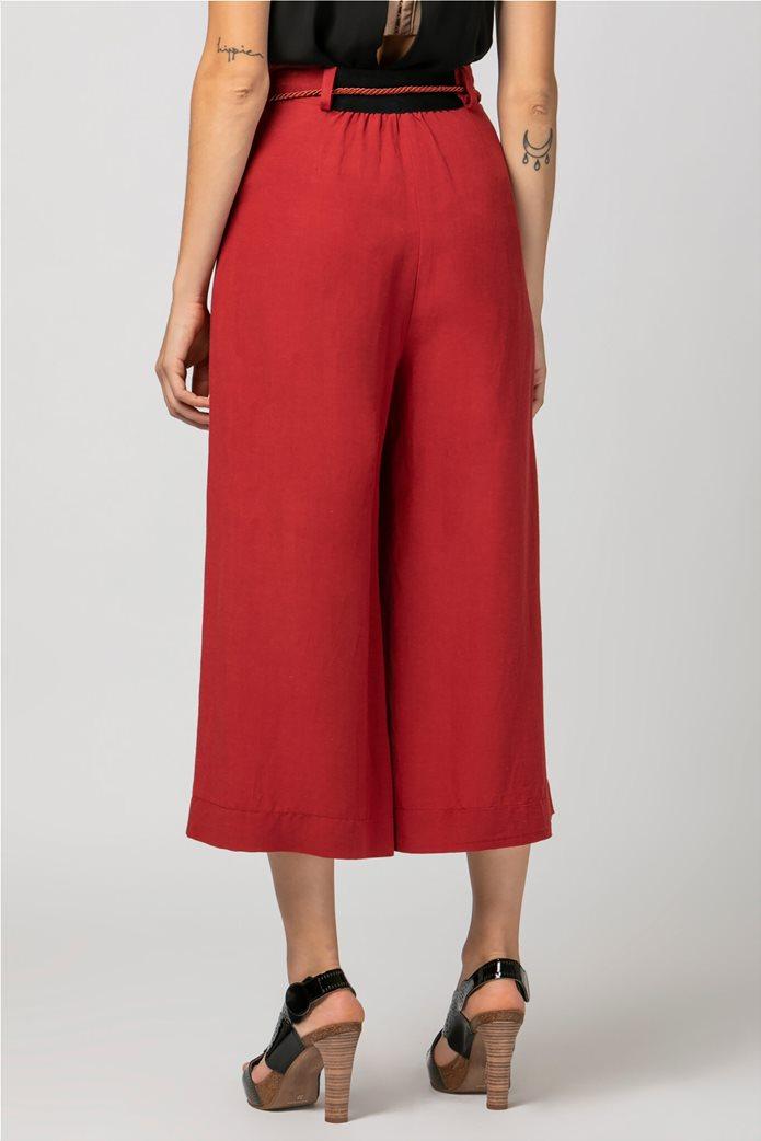 Billy Sabbado γυναικεία παντελόνα cropped Κόκκινο 3
