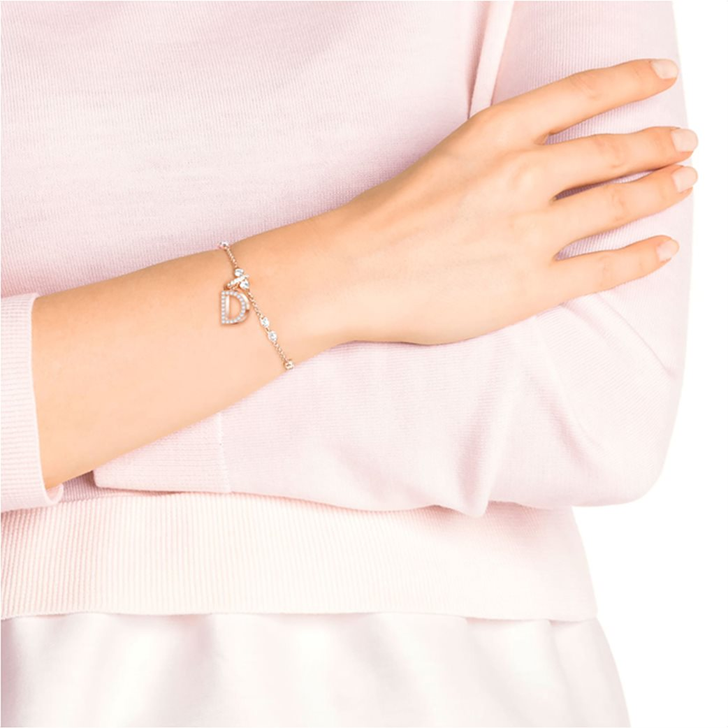 Swarovski Remix Collection Charm D, White, Rose-gold tone plated 2