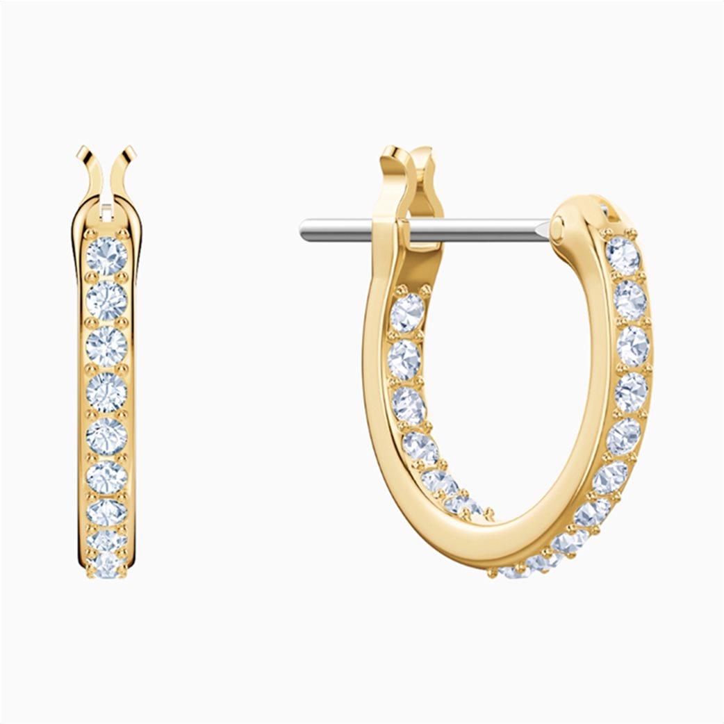 Swarovski Ocean Shark Pierced Earrings, White, Gold-tone plated 3