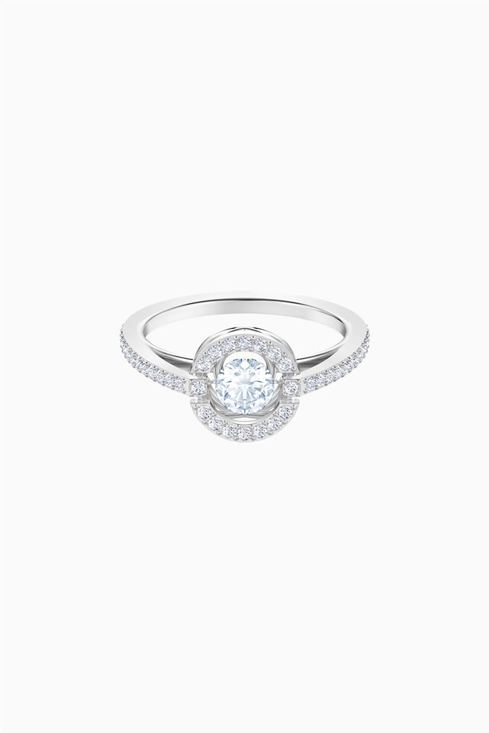 Swarovski Sparkling Dance Round Ring, White, Rhodium plated Λευκό 0