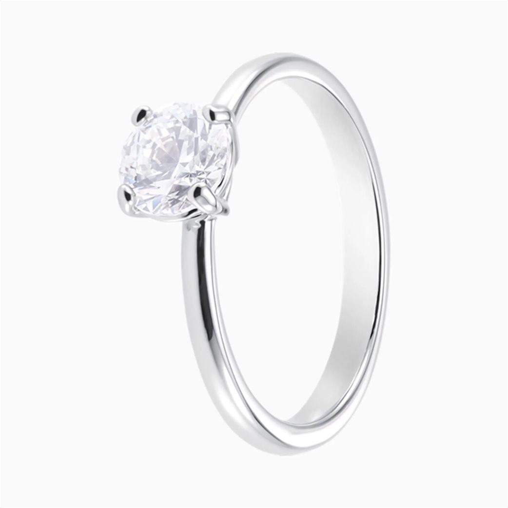 Swarovski Attract Ring, White, Rhodium plated 1