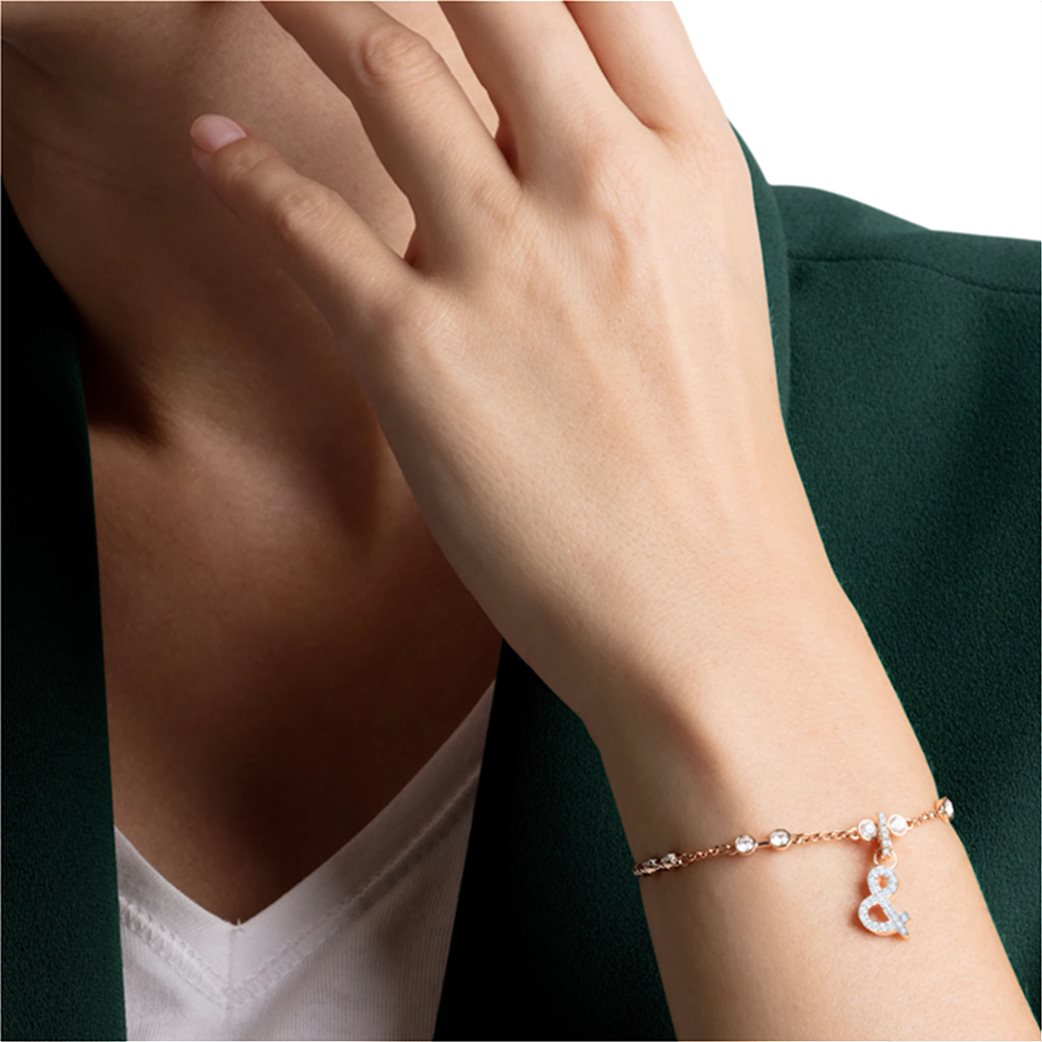 Swarovski Remix Collection & Charm, White, Rose-gold tone plated 1