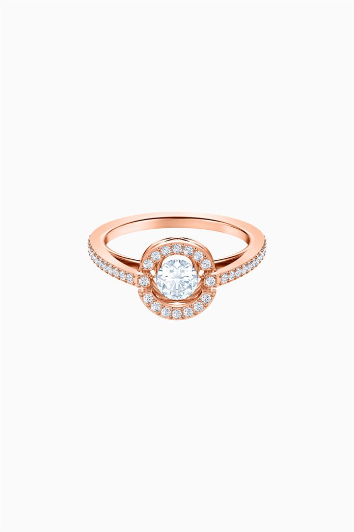 Swarovski Sparkling Dance Round Ring, White, Rose-gold tone plated Λευκό 0