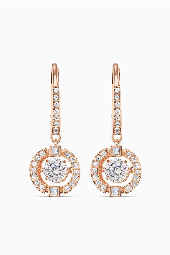 Swarovski Sparkling Dance Pierced Earrings, White, Rose-gold tone plated Λευκό 0