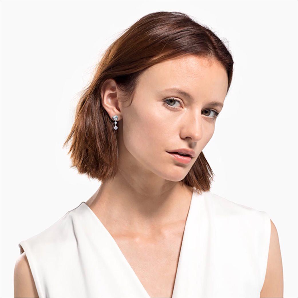Swarovski Lifelong Heart Pierced Earrings, White, Rhodium plated Λευκό 1